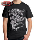Chinese Dragon T-SHIRT MMA Oversized Large Design Asian Dragons Fighter Wear image