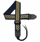 Celtic Guitar strap with Celtic Knot Design Version 2 in different color combos