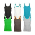 New Mens Slim Fit Vest Sleeveless Tank Top Casual Gym Muscle Summer Size S - XXL