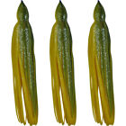 "5.5"" to 8.5"" Octopus Squid Replacement Skirt - Green & Sun Yellow - 3 Pack"