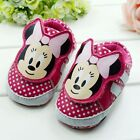 Toddler Baby Girl Minnie Mouse Sneakers Soft Sole Pram Shoes Size 0 to 18 Months