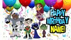 Teen Titans Go cake topper or cupcake tops image picture photo sugar decal