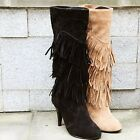 Fashion spring and autumn women boots fringed boots high-heeled high boots