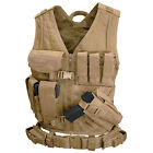 Condor CVXL  Cross Draw Tactical Vest WITH pouches, holster AND Tactical Belt