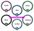 Size 1.2mm x 8mm BCR CBR Ball Closure Rings Hoops body jewellery Tragus