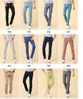 Mens Stretchy Candy Pencil Pants Casual Skinny Jeans Trousers 7 size 12 colors