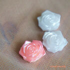 Rose Flatback Pearl - Flower Shape Scrapbook Nail Art Craft
