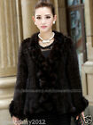 100% Real Genuine Knitted Mink Fur Coat Jacket Outwear Vintage Classic Women Hot