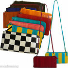 Genuine Eel Skin Zipper Clutch Bag Shoulder Crossbody Bag Travel Passport Bag