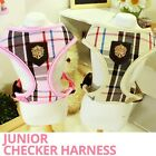 Luxury Puppia Pet Harness- Junior Checker Black&Pink Small-Large Dog Adjustable