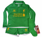 Liverpool Warrior green childrens goalkeeper football shirt shorts WST1205-HRD