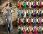 Long Strapless Gorgeous Prom Dress Formal Empire Beading Evening Gown Party 6-26