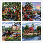 "New Finished Completed Cross Stitch ""The beautiful country"" freeshipping to USA"