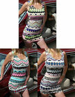 Sexy Lightweight Aztec Print / Ethnic Pattern Print Summer Dress Size 10/12