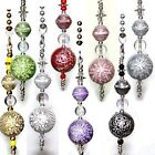 Silver accent Flower acrylic beads your Ceiling fan Light Lamp Pull Chain