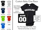 Grizzlies Baby One Piece - Custom Name and Number, Creeper, Onesie