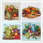 "New Finished Completed Cross Stitch needlepoint ""Fruit""freeshipping to USA"