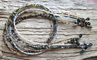 CHAOS Beaded Eyeglass Chain .. Choose color: Black- Brown- Gold- Silver- White