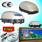 Aquarium Fish Tank Air Pump 120L 150L 180L 480L/H + 2M Air Line + 2 Air Stone