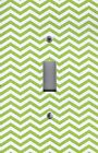 Light Switch Plate Switchplate & Outlet Covers CHEVRON - GREEN & WHITE