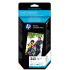 HP343 Colour Ink Cartridge and Photo Paper for Deskjet 460 and more