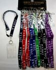 WHOLESALE LOT OF12,24--*USA* NECLKLACE ID HOLDER, KEYCHAIN LANYARD-KC2712A
