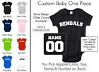 Bengals Baby One Piece - Custom Name and Number, Creeper, Onesie