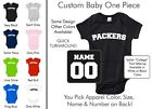 Packers Baby One Piece - Custom Name and Number, Creeper, Onesie