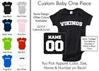 Vikings Baby One Piece - Custom Name and Number, Creeper, Onesie