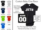 Jets Baby One Piece - Custom Name and Number, Creeper, Onesie
