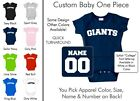 Giants Baby One Piece - Custom Name and Number, Creeper, Onesie
