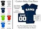 Rams Baby One Piece - Custom Name and Number, Creeper, Onesie