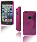 NEW STYLISH S LINE GEL SOFT BACK CASE COVER FOR APPLE I PHONE 5 S + SCREEN GUARD