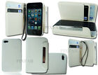 NEW UNIQUE 2 IN 1 CARD HOLDER FLIP SIDE WALLET CASE COVER FOR APPLE I PHONE 4 4S