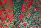 Fancy Gold Trim Christmas Print 100% Cotton fabric 5 designs Fat quarter 50x55cm