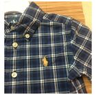RALPH LAUREN Infant Boys Short Sleeved Plaid Blake Shirt - GENUINE