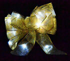 Pack of 5 Light Up LED Bows - Gold Silver Blue Red Purple Christmas Decorations