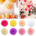 "1 - 3pc 6"" 8"" 10 12 14 16""  Tissue Paper Pom Poms Flower Ball Wedding Decoration"