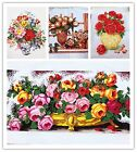 New Finished Completed Cross Stitch Flower(III)/Floral Print freeshipping to USA