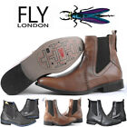 Fly London Boots Ankle Shoes Delko 100% Leather, Comfortable, Check it!