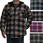 Dickies Jackets Mens Quilted Flannel Fleece Hooded Insulated Lined Plaid Jacket