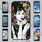 New Audrey Hepburn Colorful Art Apple iPhone & Samsung Galaxy Case Cover