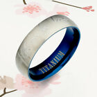Blue Groom Bride Wedding Anniversary Titanium Rings (1 Ring Price)1UK090