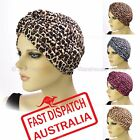 Stretch Headcover Head Wrap Beanie Chemo Bandana Leopard Animal Print Hat Turban