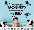 No More Monkeys Jumping On The Bed!! Wall Quotes Stickers,Kids Wall Decals w88
