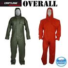 Craftland Overall Mens Hooded Rainsuit Waterproof Work Wear Outdoor Clothing New