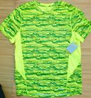 TEK GEAR MENS SPORT SAFETY BE SEEN PRINTED PERFORMANCE PULLOVER SHIRT LIST $30