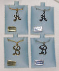 ALPHABET INITIAL PENDANT WITH CHAIN, GOLD OR NICKEL PLATE