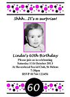 10 Personalised 18th 21st 30th 40th 50th 60th Birthday Invitations Add a Photo