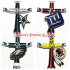 NFL TEAMS Disciples Cross Horseshoe Nail Necklace - NFC EAST